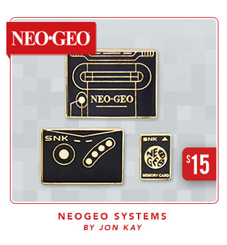 New Neogeo Systems Pin Set at Fangamer.com