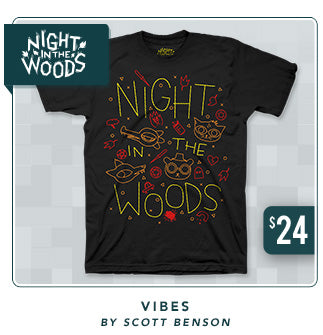 Night in the Woods Vibes Shirt Now Restocked at Fangamer.com