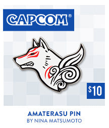 Okami Amaterasu Pin at Fangamer.com
