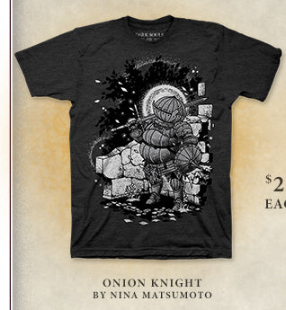 Dark Souls Onion Knight Shirt at Fangamer.com