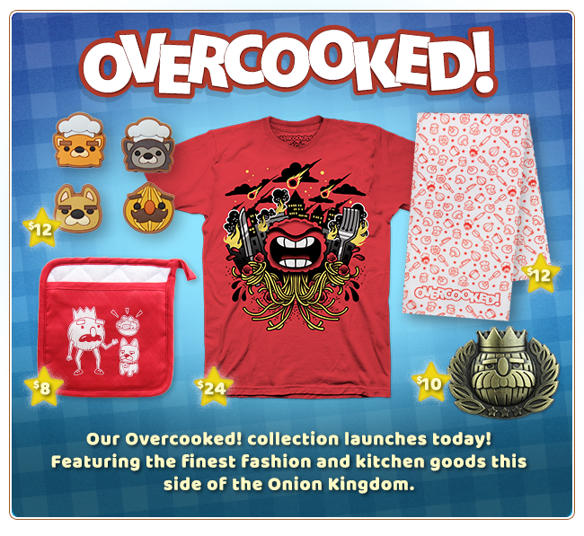 New Overcooked Collection at Fangamer.com