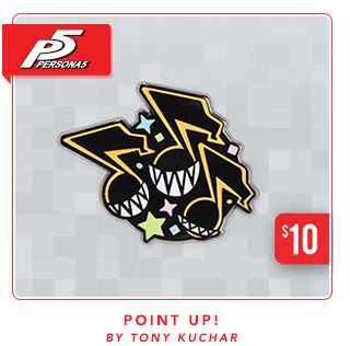 New Persona 5 Point Up! Pin at Fangamer.com