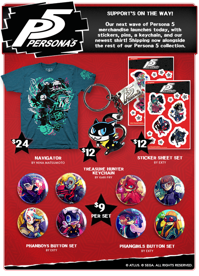 New Persona 5 Merchandise at Fangamer.com