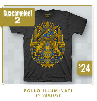 New Guacamelee 2 Pollo Illuminati Shirt at Fangamer.com