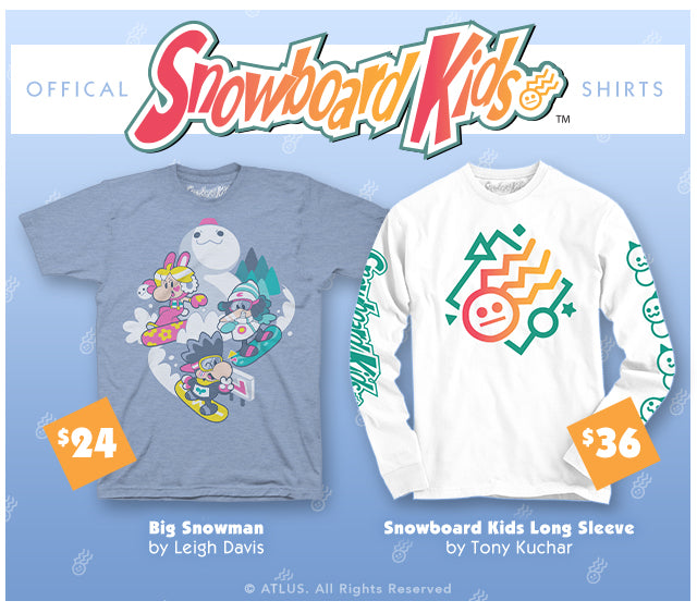 New Snowboard Kids Merch at Fangamer.com