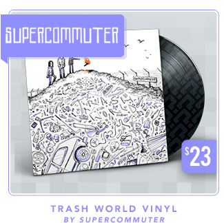Supercommuter Trash World Vinyl at Fangamer.com