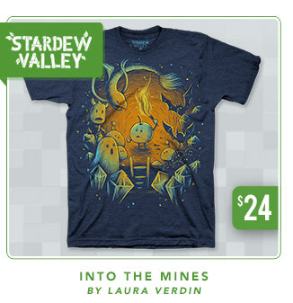 New Stardew Valley Into the Mines Shirt at Fangamer.com