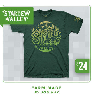 Stardew Valley Farm Made Shirt Now Restocked at Fangamer.com