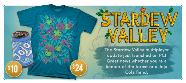 New Stardew Valley Merchandise Available at Fangamer.com