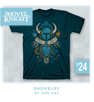 Shovel Knight Shovelry Shirt Now Restocked at Fangamer.com