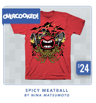 Overcooked! Spicy Meatball Shirt at Fangamer.com