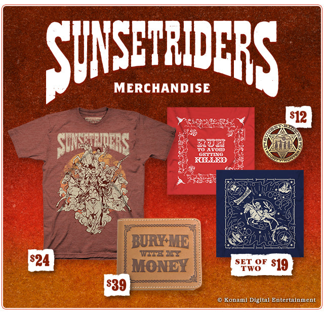 New Sunset Riders Merch at Fangamer.com