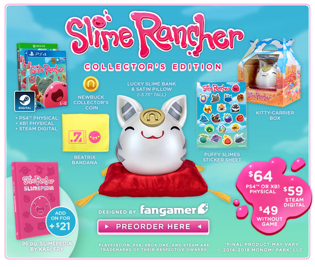 Slime Rancher Collector's Edition Now on Sale at Fangamer.com
