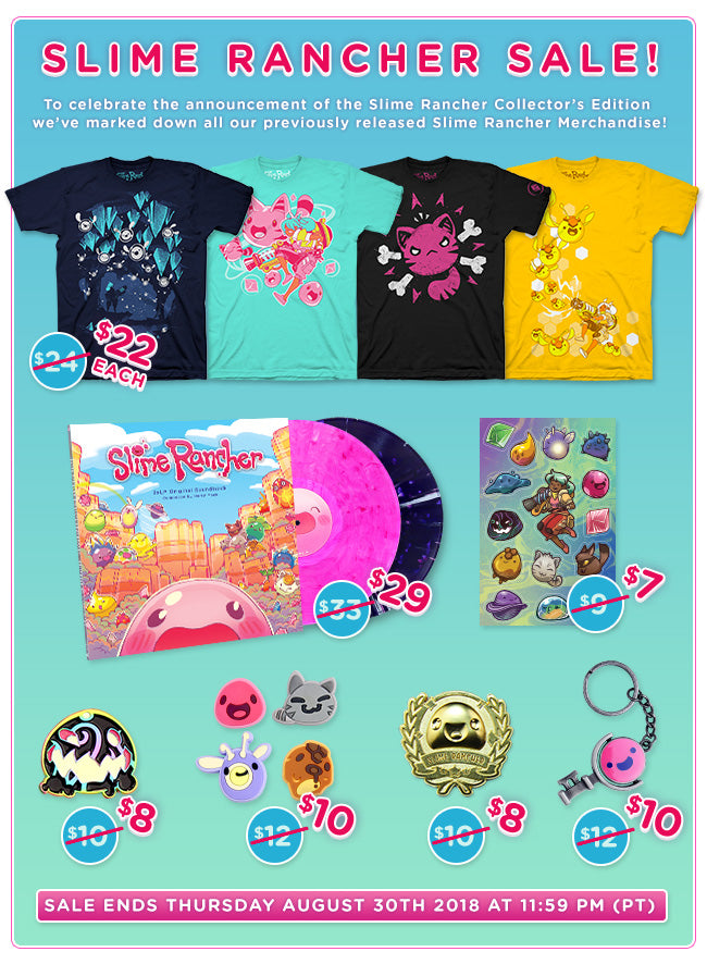 Slime Rancher Collection Now on Sale at Fangamer.com