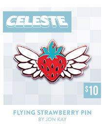 Celeste Flying Strawberry Pin at Fangamer.com