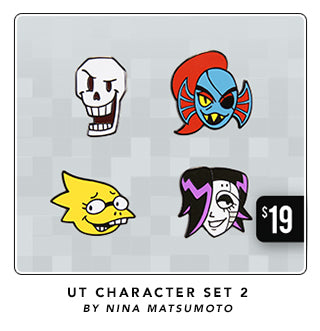 New Undertale Character Lapel Pins Set 2 at Fangamer.com