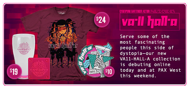New Va-11 Hall-a Merch at Fangamer.com