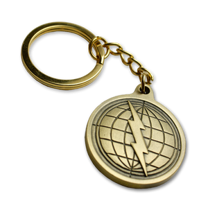 Courage Badge Keychain