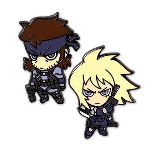Snake and Raiden Enamel Pin Set