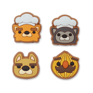 Overcooked PVC 4-Pin Set