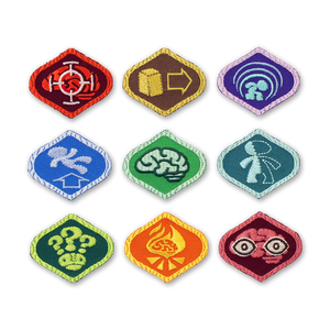Psychonauts Merit Badge Patch Set