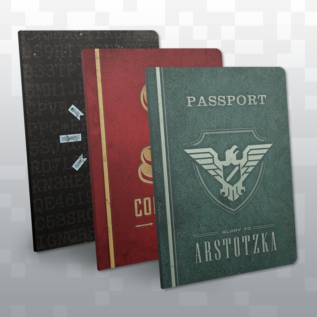 papers please   passport notebooks   fangamer