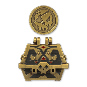 Captain's Chest & Doubloon Pin Set