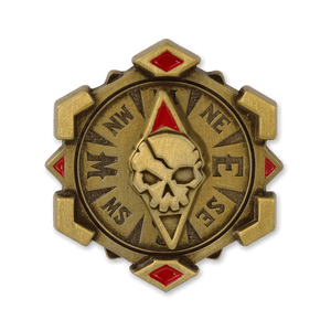 Skull Compass Spinning Pin