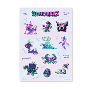 Squisherz Sticker Sheet
