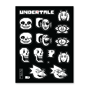 Smooch-Cut UNDERTALE Sticker Sheet