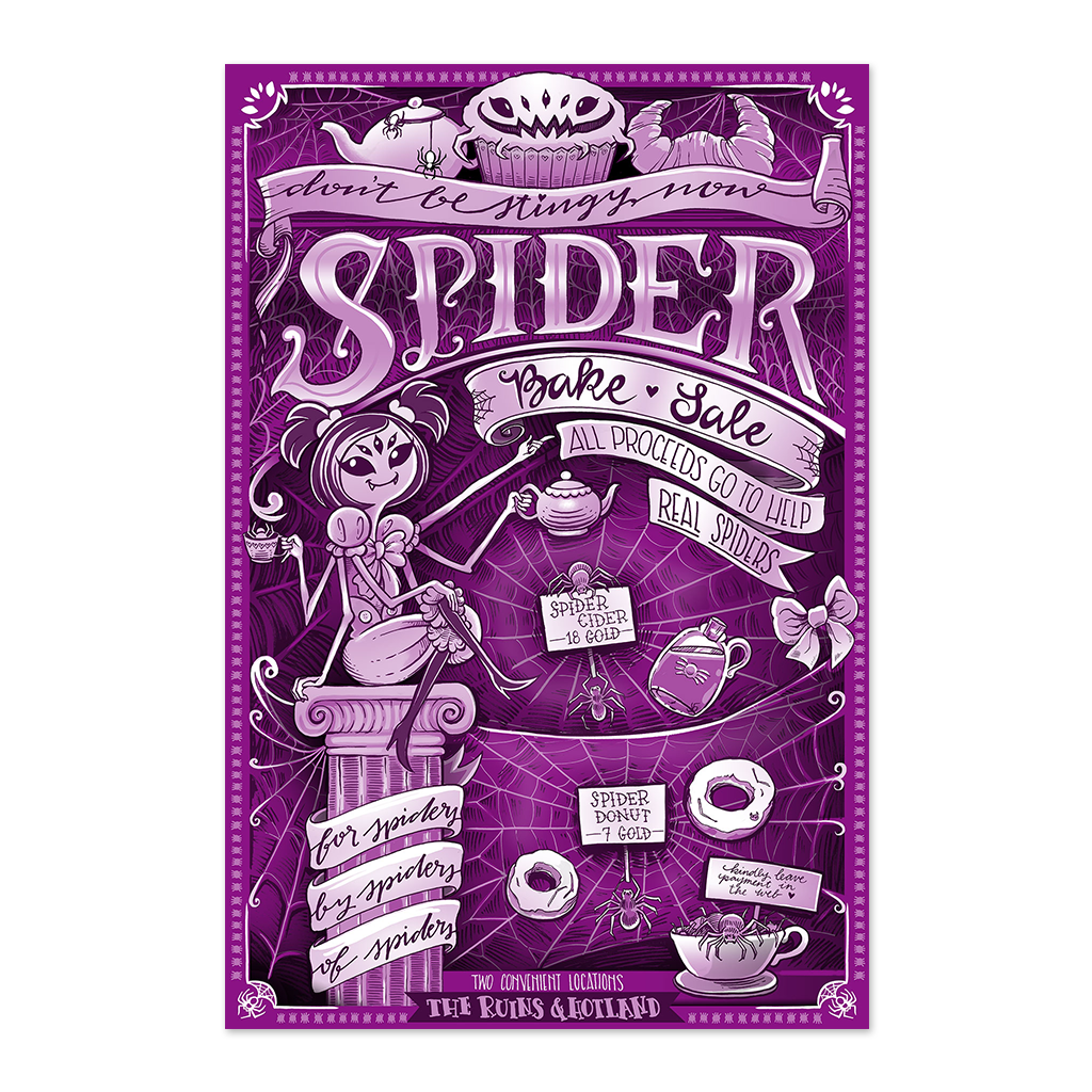 Undertale spider bake sale flyer fangamer for Poster prints for sale
