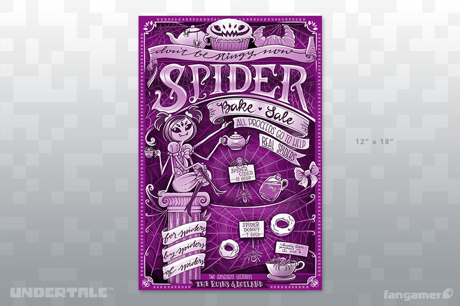 Undertale - Spider Bake Sale Flyer - Fangamer