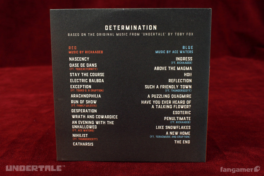 Undertale Determination Cd Double Album Fangamer