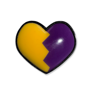 Split Heart Pin