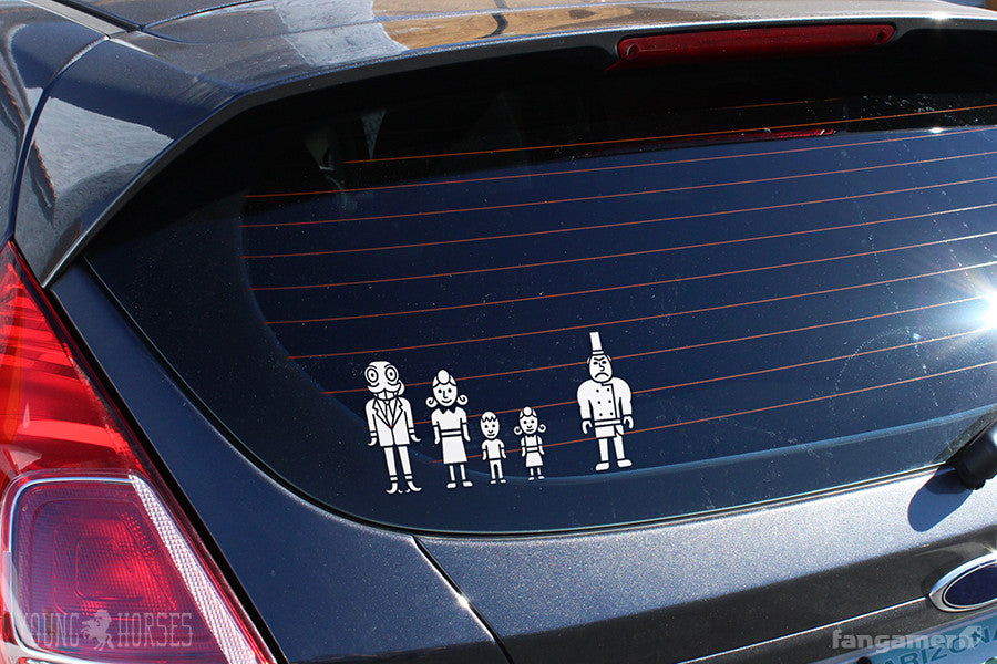 Octodad family car decals