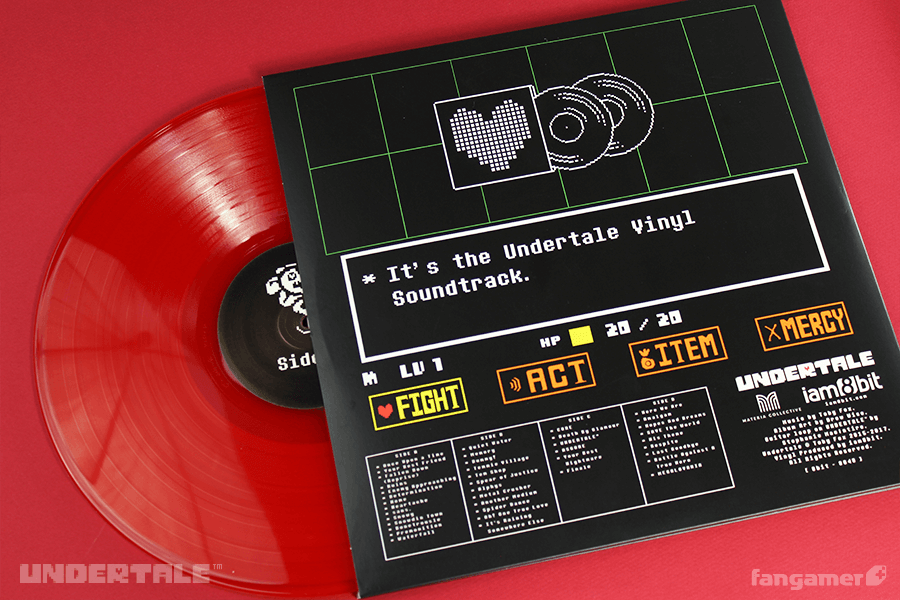 Undertale Vinyl Soundtrack Fangamer