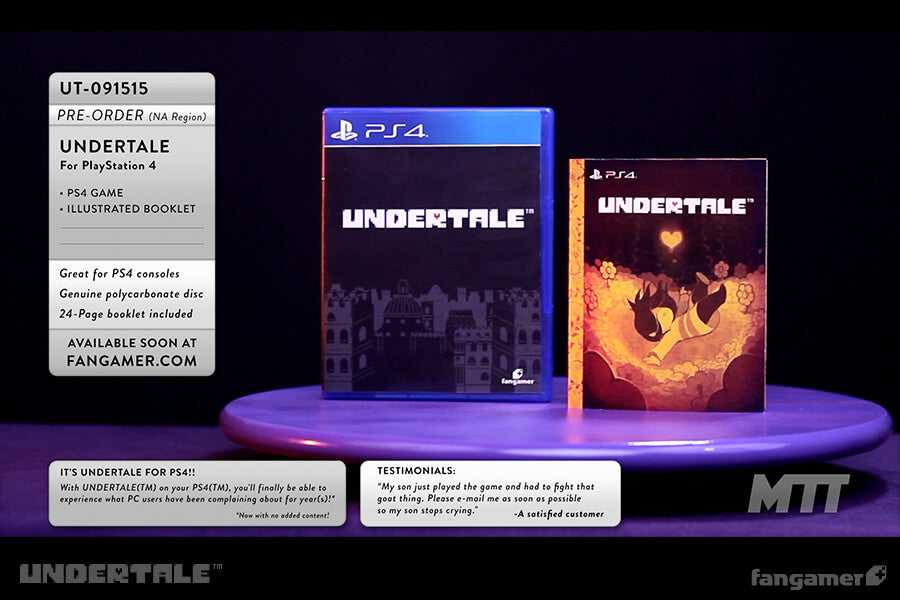 undertale game physical collectors editions fangamer