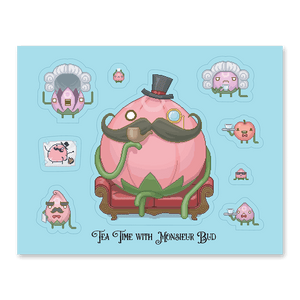 Tea Time with Monsieur Bud Sticker Sheet