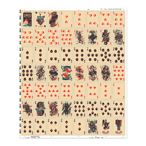 Shovel Knight Playing Cards Uncut Sheet