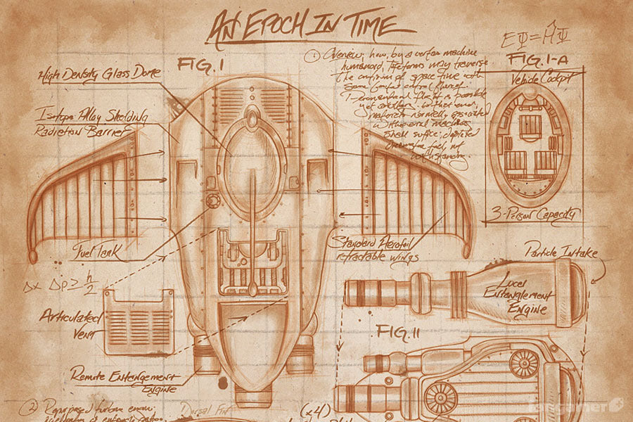 Time Wing Schematics Poster - Fangamer