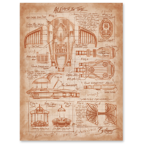 Time Wing Schematics Poster