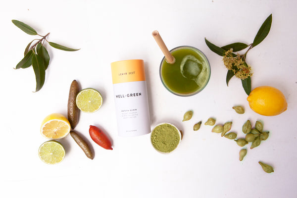 Well and Green Lemon Zest Matcha Body Detox