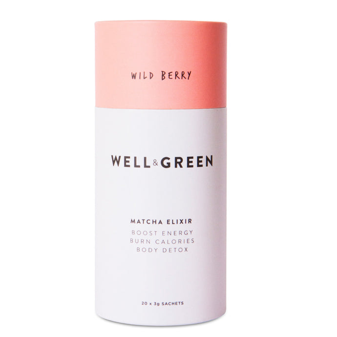 Well and Green Wild Berry Matcha Elixir