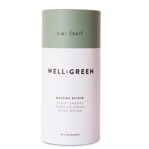Well and Green Kiwi Fruit Matcha Elixir