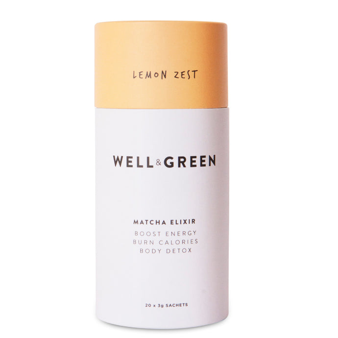 Well and Green Lemon Zest Matcha Elixir