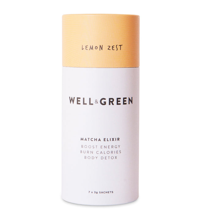 Well and Green Lemon Zest Mini Matcha Pack