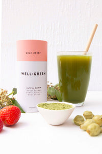 Well and Green Wild Berry Matcha Drink