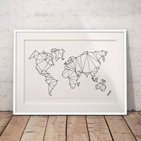 Abstract World Map Wall Art