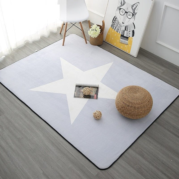Children's White Star Rug