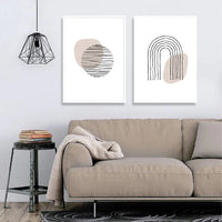 Circle and Rainbow Wall Art
